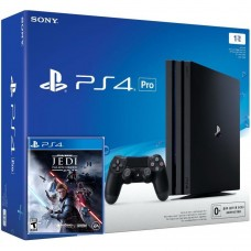 PlayStation 4 Pro Bundle (1 Tb, черный, Star Wars Jedi Fallen Order), 222147, Консоли